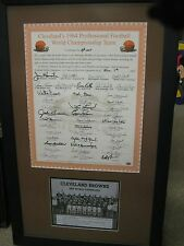 1964 NFL CHAMPIONS CLEVELAND BROWNS TEAM PIECE 42 SIGNATURE INCLUDING JIM BROWN