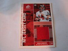 2003 SP Game Used Brad Johnson Jersey Card Tampa Bay Buccaneers (B106)