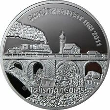Switzerland 2011 Uri Shooting Festival 50 Swiss Francs Thaler Train Silver Proof