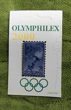 #P236. OLYMPIC 2000 OLYMPHILEX  STAMP EXHIBITION PIN - AUSTRALIA - 1956