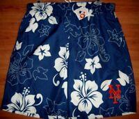 New York Mets Bathing Swim Suit XL Trunks Shorts Hawaiian Style MLB