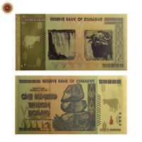 WR Zimbabwé billet de banque $.100 Trillion Dollar Billet d'or Collection