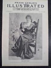 English Actress Ellen Terry New York City Frank Leslie's 1894 Original Print