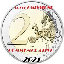 2 EURO  2021 COMMEMORATIVI TUTTE  EMISSIONI   FDC DA ROTOLINO