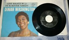 "Dinah Washington ""Love Walked In / I'm In Heaven Tonight"" 45 w/ Picture Sleeve"