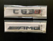OEM C63s AMG Gloss Black Boot Badge Set Emblem Rear Glossy Mercedes 🇬🇧