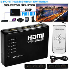 5 uscite 1080P video HDMI Switch Switcher Splitter per HDTV DVD PS3 + IR remota UK