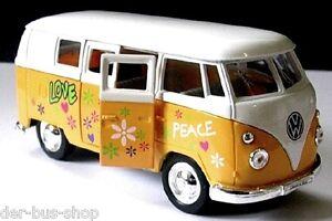 VW Bus T1 - Modell 1:37 - Love & Peace - Gelb - NEU