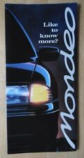 FORD MONDEO RANGE 1993 UK Mkt sales mailer brochure from launch