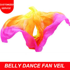 100% Real Silk Belly Dance Veil Cheap Dance Veils 250*114cm Yellow Orange Rose