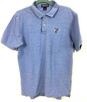 The New 7 Lands End Mens Polo Shirt Light Blue Size Medium 38-40