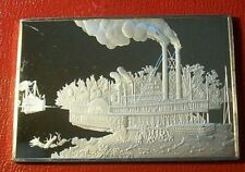 """Currier & Ives """" Wooding Up on Mississippi """" 2.75 oz.999 Silver by Franklin Mint"""