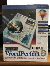 Corel WordPerfect Suite 8 New Box / Factory sealed - upgrade