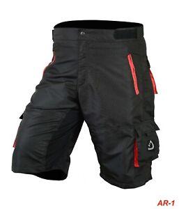 MTB Shorts Men's Cycling Off Road Team Racing Baggy Bicycle Padded Liner Shorts