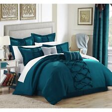 Gracewood Hollow Khadra Turquoise 12-piece Bed in a Bag with Turquoise Queen
