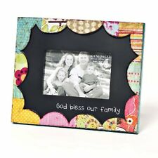 COLORFUL DEVOTIONS GOD BLESS OUR  SCULPTURE PICTURE FRAME BY DEMDACO