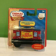 NEW THOMAS & FRIENDS WOODEN RAILWAY SODOR CELEBRATION CABOOSE TRAIN SHIPS FREE