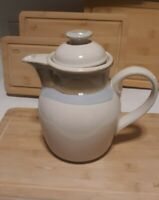 "VTG NORITAKE PAINTED DESERT STONEWARE TEA COFFEE POT W/LID EUC #8603 9"""