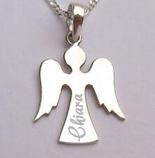 Mit Gravur Schutzengel Engel Wunschname Wunschgravur Echt Silber 925 mit Kette