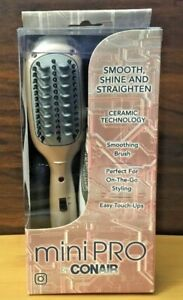 Conair Mini PRO Ceramic Smoothing Straightening Brush - Perfect for Touch-Ups