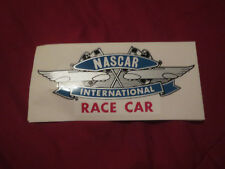 NASCAR INTERNATIONAL RACE CAR VINTAGE RACING FLAGS LOGO DECAL STICKER 6 1/2 by 3