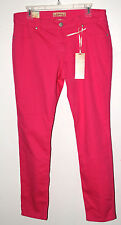 WOMEN STRETCH SKINNY PANTS JEANS SIZE 14 PINK PULSE PERFECT FOR SPRING & SUMMER