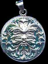 Fabulous! Goddess Jack, the GreenMan,   Pendant by Oberon Zell (Nebula Metal)
