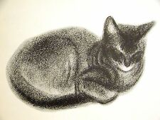 Clare Turlay Newberry BLACK SIAMESE 1956 CHAMPION CHIRN SA-HAI GRIZEL Art Matted