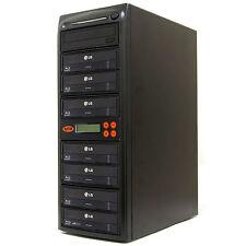 7 Burner Blu Ray CD DVD 16X Duplicator Copier M-Disc Copy Tower Multiple BD