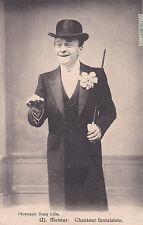 NORD M. TABLER chanteur fantaisiste avec son chapeau photo touly timbrée 1907