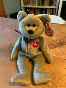 TY Beanie Baby 1999 Signature Bear - Mint Condition with Tags