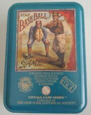 Vintage Game Series of NY Historical Society Home Baseball Dice Game in Tin
