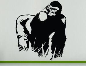 Gorilla Safari Animal Zoo Jungle Wild Decal Wall Art Sticker Picture