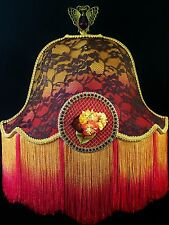 Victorian Lamp Shade Embroidered Floral Silk Petal Lampshade