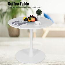 Beistelltisch Rund Couchtisch einfacher Kaffeetisch Gartentisch Balkon Weiß/Grau