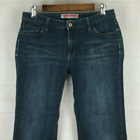 GAP Essential Fit womens size 6 stretch distress med wash mid rise bootcut jeans