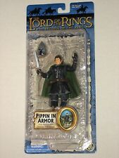LOTR Lord of the Rings Pippin in Armor Figure with Removable Helmet & Sword ROTK
