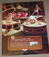2002 ad page - Huggies Supreme baby Diaper CUTE babies PRINT Advertising
