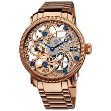 Men's Akribos XXIV AK525RG Mechanical Skeleton Rose-tone Stainless Steel Watch
