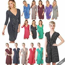 Spotted Viscose Wrap Dresses