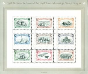 US: 1998 TRANS-MISSISSIPPI Re-Issue; Complete MNH Sheet Sc 3209