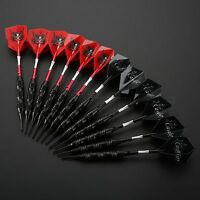 22g *3 Soft Tip Darts Set Red Black Flights High Quality Leisure Supplise Sports