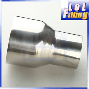 """2.25"""" To 3"""" inch OD Stainless Steel Weldable Exhaust Reducer Connector Pipe"""