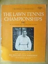 Tennis Memorabilia- 1963 The Lawn Tennis Championships Official Programme
