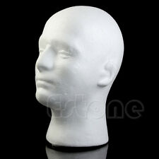 Male Styrofoam Mannequin Wig Glasses Hat Display Stand Popular Foam Head Model