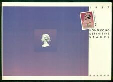 HONG KONG 1987 DEFINITIVE STAMPS , all mint in folder