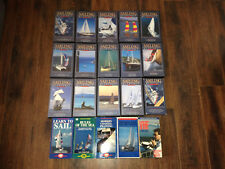SAILING QUARTERLY vhs lot LEARN TO SAIL, RULES OF THE SEA, VHF RADIO + 20 vhs