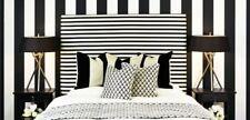 Modern Black White Stripe PrePasted Vinyl Wallpaper wallpaper wallcovering