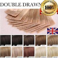 """16"""" 18"""" 20"""" 22"""" 24""""  PU Tape In 100% Human Hair Extensions UK stock AAAAAAA"""