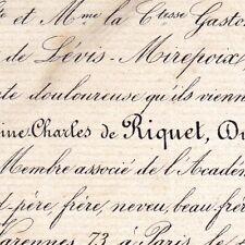 Victor Antoine Charles De Riquet De Caraman Paris 1868